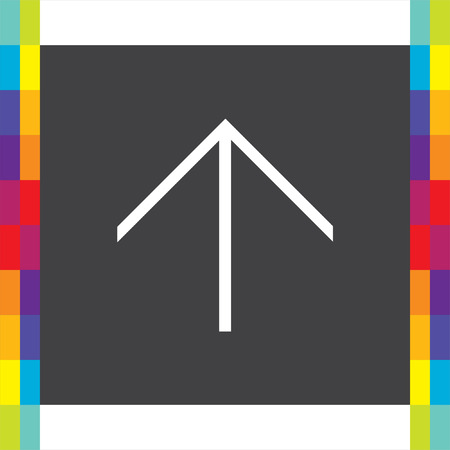 direction sign: Arrow up sign line vector icon. Direction sign line icon. Illustration