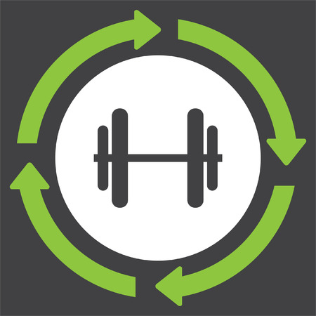 dumbell: Dumbbell vector icon. Fitness sport and gym sign. Bodybuilding equipment symbol Illustration