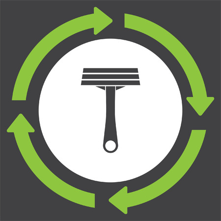 Shavers vector icon. Razor sign. Barber shaving symbol