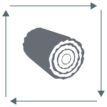 tree log: Stump vector icon. Tree log sign. Wood symbol Illustration