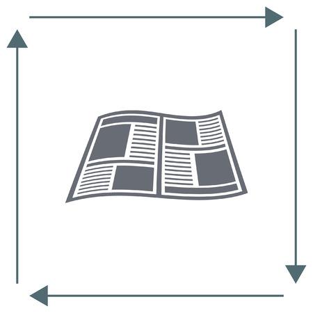 publication: Newspaper vector icon. Press sign. Publication symbol. Illustration