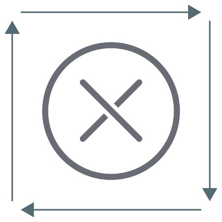 disagree: Cancel vector line icon. Close sign icon. Reject sign icon. Illustration