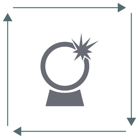 witchcraft: Crystal Ball vector icon. Magic sign. Witchcraft symbol
