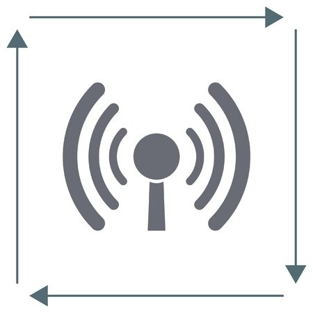 wi: WI FI vector icon. Wireless internet sign. Wlan symbol