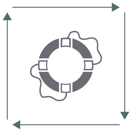 lifebelt: Lifebuoy vector icon. Lifebelt sign. Safety floating belt symbol
