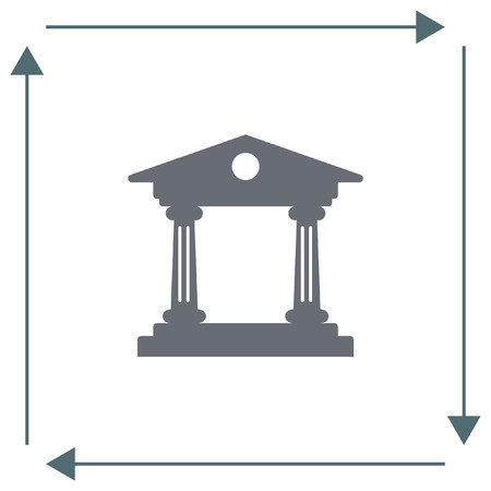 roman pillar: Institution vector icon. Government building sign. University symbol Illustration