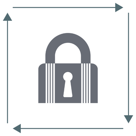 lock symbol: Lock closed state vector icon. Padlock sign. Security symbol