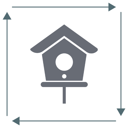 nestling birds: Bird House vector icon. Shelter symbol.
