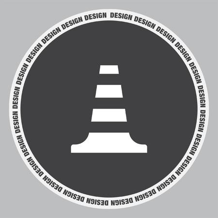 symbol traffic: Traffic cone vector icon. Traffic safety sign. Construction warning alert symbol