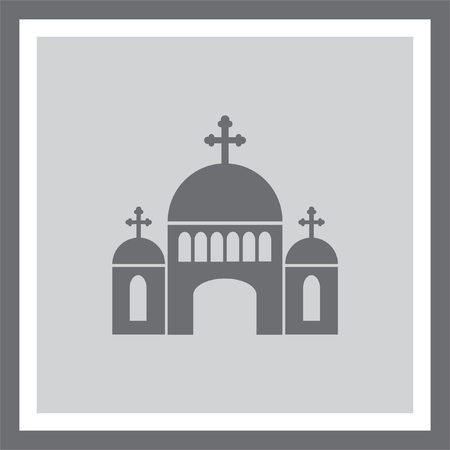 spiritual architecture: Church vector icon. Monastery sign. Temple symbol. Religious building icon. Illustration