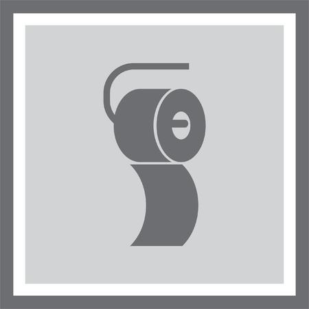 Toilet Paper Vector Icon Restroom Sign Bathroom Symbol Royalty Interesting Bathroom Symbol