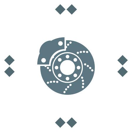 Car brakes vector icon. Vehicle repair service sign. Automobile part shop symbol. Illustration