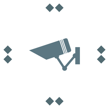 monitored: Security camera sign vector icon. Video monitoring icon. Camera cctv sign. Surveillance symbol.