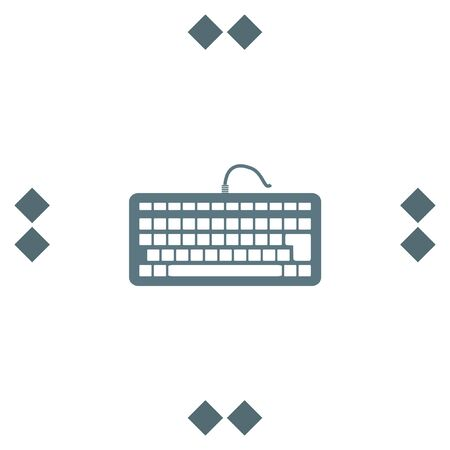input device: Keyboard vector icon. PC input device sign. Computer equipment symbol Illustration