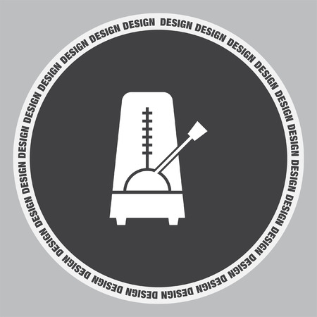 tempo: Metronome vector icon. Rhythm machine sign. Tempo meter symbol Illustration