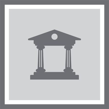Institution vector icon. Government building sign. University symbol Illustration