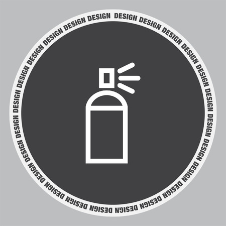 paint container: Spray can sign line vector icon. Deodorant symbol. Paint UI control sign.