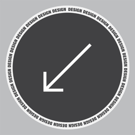 at the bottom of: Arrow bottom left sign line vector icon. Direction sign line icon. Illustration