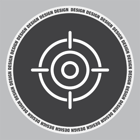 aim: Target sign line vector icon. Success symbol. Focus sign.