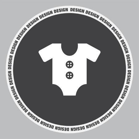 Baby Onesie vector icon. Baby clothes symbol. Kid wear sign.
