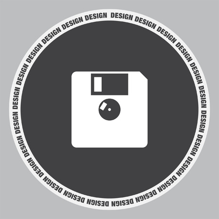 diskette: Diskette vector icon. Floppy disk sign. Memory storage symbol