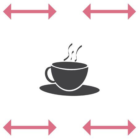 Coffee Cup vector icon. Hot drink sign. Tea cup symbol. Illustration
