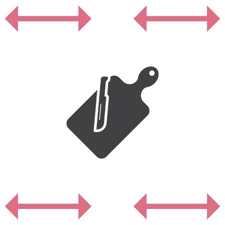 Cutting board vector icon. Slicing board symbol