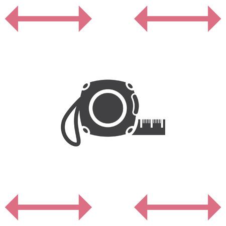 Medida de cinta vector icono