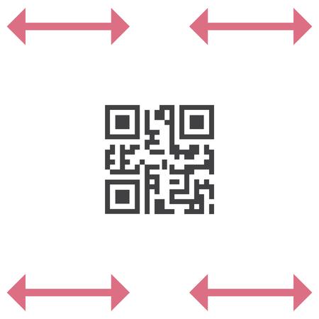 qrcode: QR code vector icon. Computer business symbol