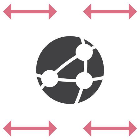 Global network vector icon. Worldwide network symbol Illustration