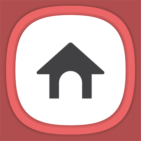 doghouse: Dog House vector icon. Pet Home sign. Illustration