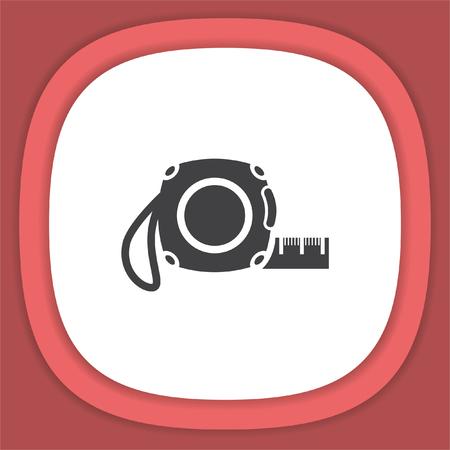 Measure tape vector icon
