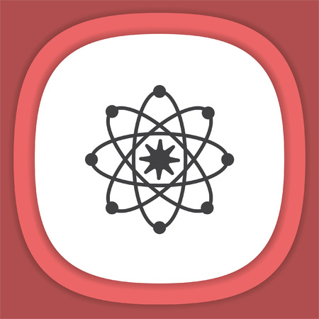 Atom model vector icon. Science symbol. Nuclear technology sign Illustration