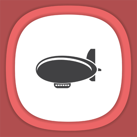 airship: Airship Zeppelin vector icon.  Flight transport symbol. Illustration