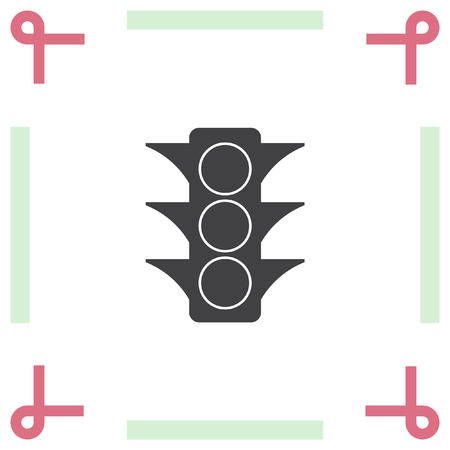 symbol traffic: Semaphore vector icon. Traffic light symbol Illustration