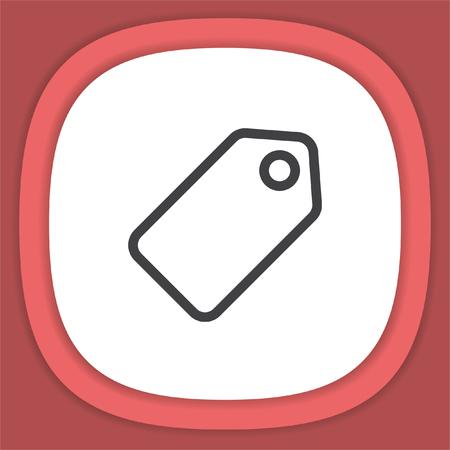 Label line vector icon. Tag Price symbol