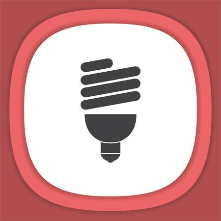 Fluorescent light vector icon. Bulb sign Illustration