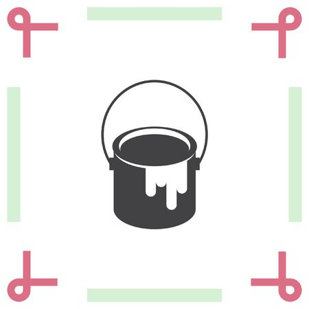 paint can: Paint bucket sign vector icon. Color symbol