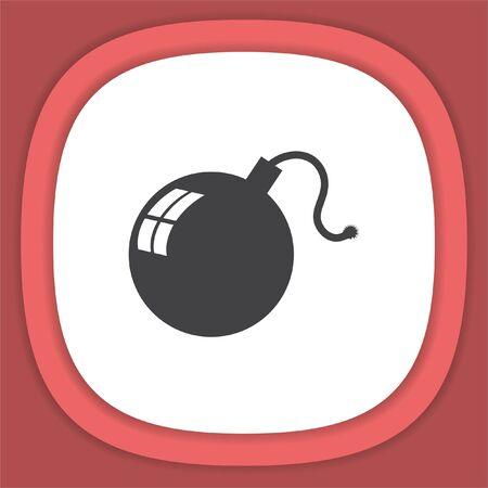 Bomb vector icon. Danger symbol.