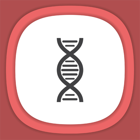 DNA chain sign line vector icon. Science symbol.