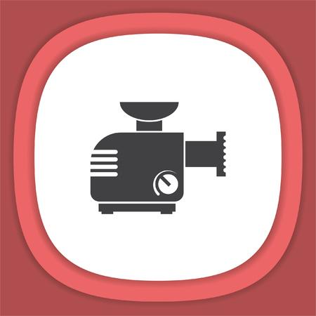 meat grinder: Meat grinder machine vector icon. Illustration