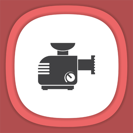 Meat grinder machine vector icon. Illustration