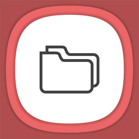 Folder sign line vector icon. Archive symbol.