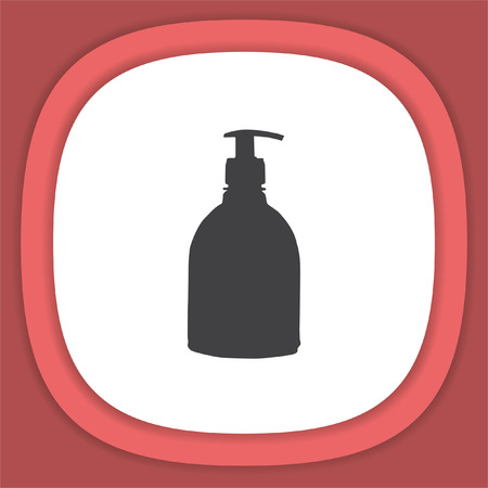 Household cleaning bottle vector icon. Disinfection spray sign Illustration