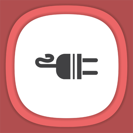 ac: Electric AC Power Plug vector icon. Power sign