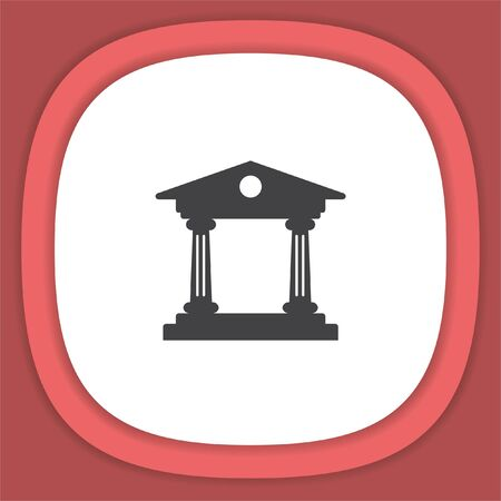 roman pillar: Institution vector icon. Government building sign. University symbol Illustration