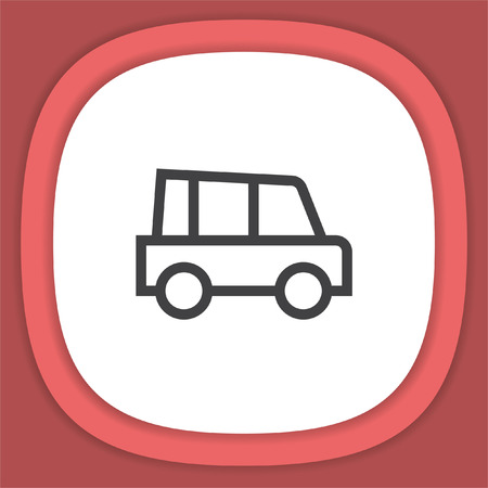 Car line vector icon. Automobile transport sign. Traffic symbol. Illustration