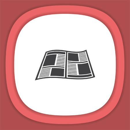 Newspaper vector icon. Press sign. Publication symbol. Illustration