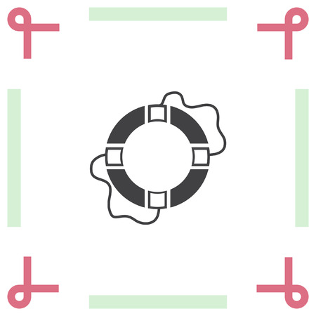 lifebelt: Lifebuoy vector icon. Lifebelt symbol Illustration
