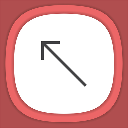 Arrow top left line vector icon. Direction sign Illustration